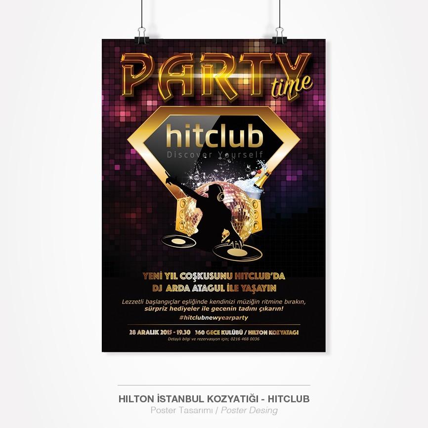 134 taner ugan portfolyo hilton istanbul kozyatagi hitclub spa fitnes party poster